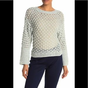 Theory Boatneck Crochet Sweater P NWT $395